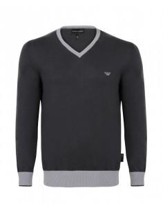 Jersey armani cuello pico gris