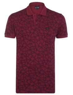 Polo Armani Jeans estampado muscle fit - red