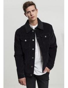Urban Classics chaqueta pana Sherpa - black