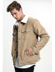 Urban Classics chaqueta pana Sherpa - sand