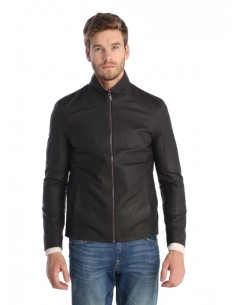 Sir Raymond Tailor - Chaqueta de piel transition - dark brwn