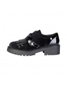 Laura Biagiotti zapatos flecos - negro