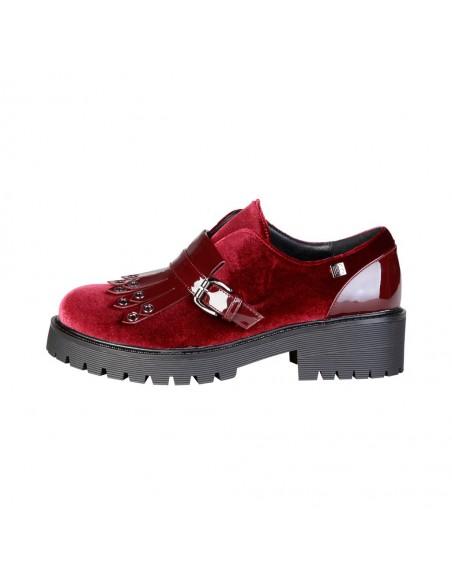 Laura Biagiotti zapatos flecos - burdeos