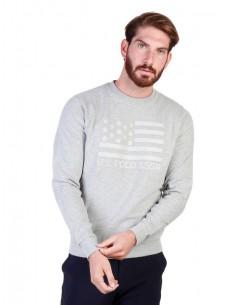 Jersey cuello redondo U.S. Polo Assn - Print gris