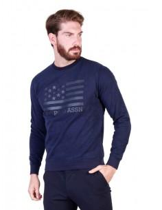 Jersey cuello redondo U.S. Polo Assn - Print navy