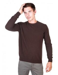 Trussardi sueter cuello redondo - marrón