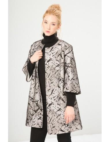 Fontana 2.0 abrigo corto - estampado marrón
