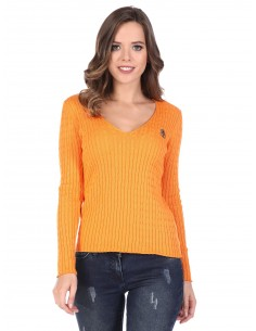 Jersey de ochos Sir Raymond Tailor de cuello pico - orange