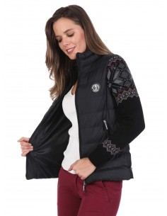 Sir Raymond Tailor chaqueta combinada grecas - black