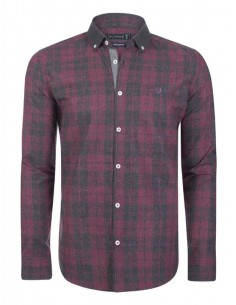 Camisa Sir Raymond Tailor plaid cherry