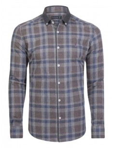 Camisa Sir Raymond Tailor plaid marrón
