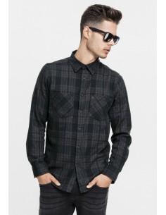 Urban Classics camisa cuadros - gris negro