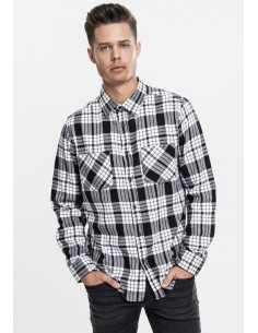 Urban Classics camisa cuadros - blanco y negro