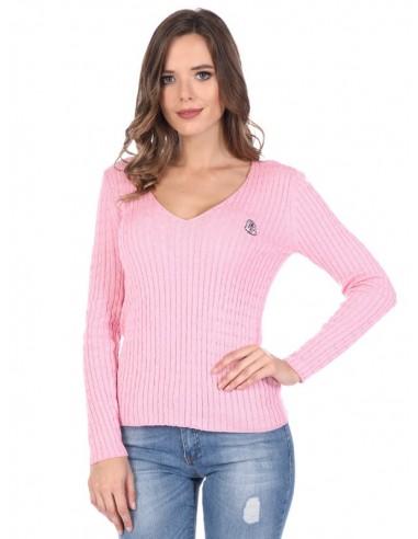 Jersey de ochos Sir Raymond Tailor de cuello pico - pink