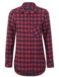 Camisa Sir Raymond Tailor flanell - red navy