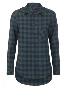 Camisa Sir Raymond Tailor flanell - green navy