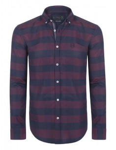 Camisa Sir Raymond Tailor plaid - marino y burdeos