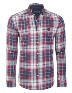 Camisa Sir Raymond Tailor flanel - red blue