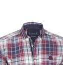 Camisa Sir Raymond Tailor flanel - red blue