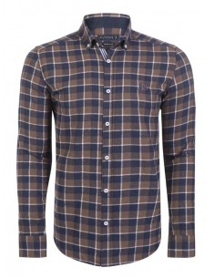 Camisa Sir Raymond Tailor flanel - dark brown