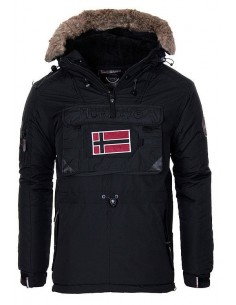Parka Geographical Norway tipo canguro biblos - black