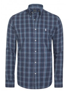 Camisa Polo de hombre regular fit - flane navy plaid