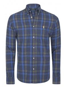 Camisa Polo de hombre regular fit - flanell dark navy plaid