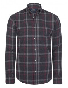 Camisa Polo de hombre regular fit - flanell black plaid