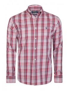 Camisa Polo de hombre regular fit - white red