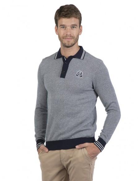 Sir Raymond Tailor - Jersey tricot marino y crudo