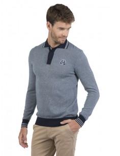 Sir Raymond Tailor - Jersey tricot marino y azul