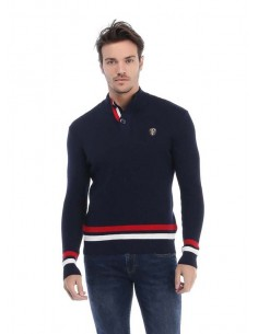 Jersey Sir Raymond half zip Bisque - navy