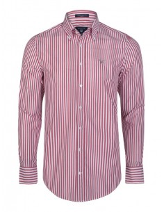 Camisa Gant de rayas rojas