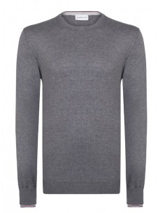 Jersey de cuello redondo Moncler - Gris oscuro