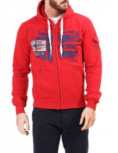 Sudadera Geographical Norway - Fohnson red