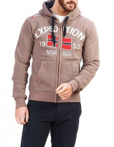 Sudadera Geographical Norway - Foccupe taupe
