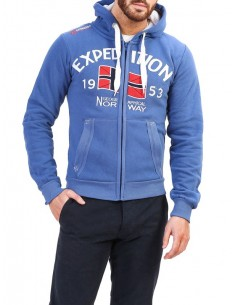 Sudadera Geographical Norway - Foccupe blue
