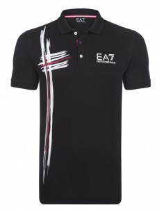 Polo Emporio Armani estampado - black