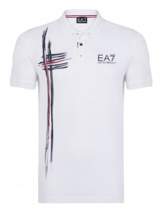 Polo Emporio Armani estampado - white