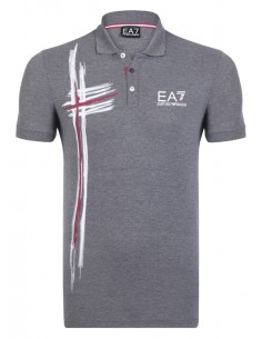 Polo Emporio Armani estampado - grey