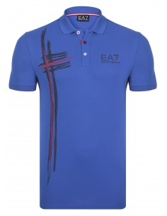 Polo Emporio Armani estampado - blue