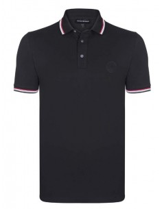 Polo Emporio Armani ribeteado - black