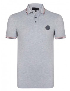 Polo Emporio Armani ribeteado - grey