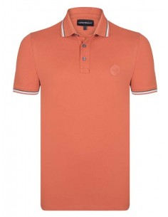 Polo Emporio Armani ribeteado - orange