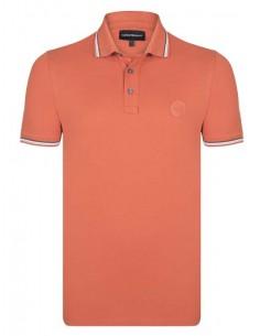 Polo Emporio Armani ribeteado - orange
