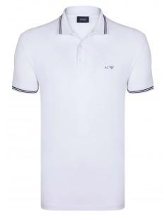 Polo Armani Jeans heritage blanco
