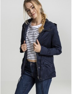 Urban Classics -Ladies Basic Cotton Parka  woman -  marino