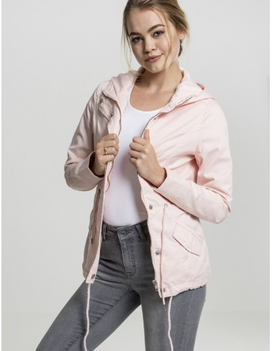 Urban Classics -Ladies Basic Cotton Parka woman - old pink