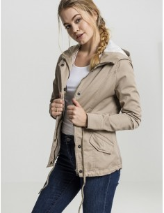 Urban Classics -Ladies Basic Cotton Parka  woman - sand