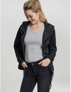 Urban Classics -Ladies Basic Cotton Parka  woman - black